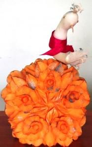 цветок из тыквы