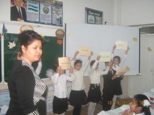 """Открытый урок в 4 """"В"""" классе (учитель Хужаева М.И.)"""