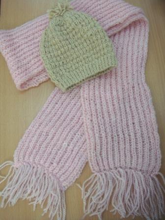 Нарядный и очень нежный шарфик- ... с описанием) Вязание спицами.