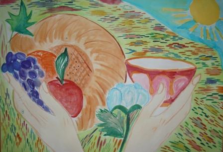 """Узбекистан - мой край родной"" (автор - Мария Кравченко, 7 ""А"" класс)"